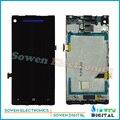 Para htc 8x display lcd com touch screen digitador e frame assembléia conjuntos completos, azul vermelho preto, nova