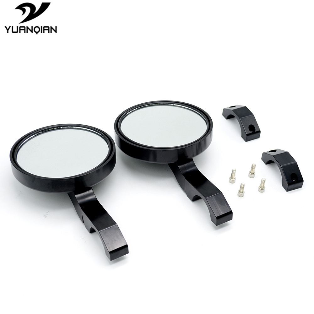4 7 quot Round UTV Rearview Mirrors Side Mirror Clamp For Can Am Commander cage Yamaha Viking and Viking 6 seater 2 accessories moto in Side Mirrors amp Accessories from Automobiles amp Motorcycles