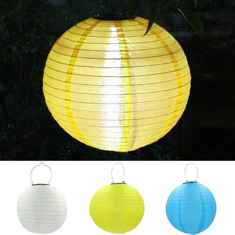 New Solar Light LED Lantern String Lights Ball LED Solar Garland Outdoor Fairy Lights Christmas Lighting For Garden Decoration