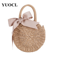 Famous Brand Ladies Rattan Beach Bag Wicker Straw Bag Summer Crossbody Bags For Women 2018 Luxury Handbags Women Bags Designer