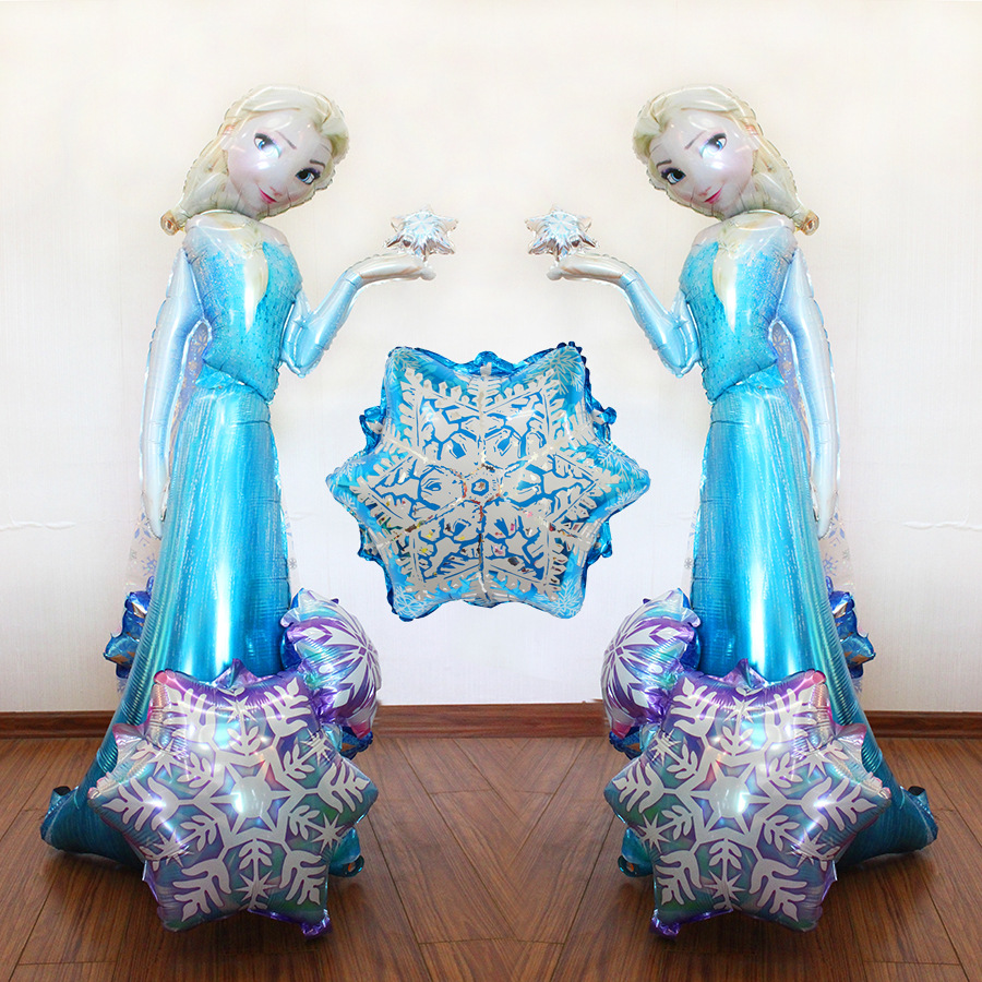 57 inch Anagram Cartoon ice princess Foil Balloons inflatable helium balloon Air