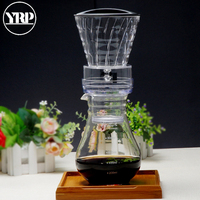 YRP Water Drip Coffee Machine New Reusable Filter Tools Glass Espresso Coffee Dripper Pot Ice Cold Brew Coffee Maker BDH 04