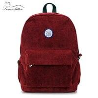 Korean Simple Retro College Solid Backpack For Women Teenage Girl Couple Cartoon College Wind Mochila Escolar