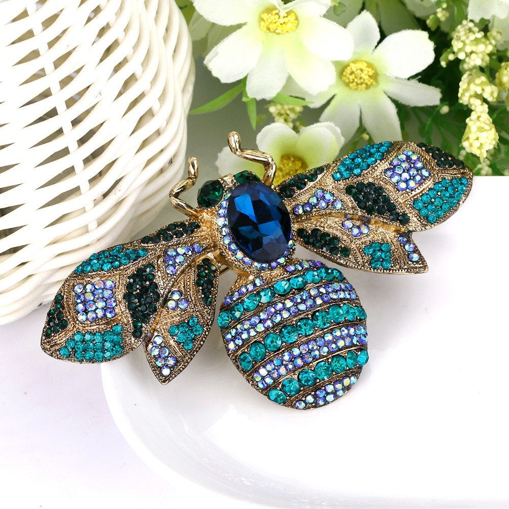 Bella Fashion Luxury Queen Bee Animal Insect Brooch Pins Austrian Crystal Rhinestone Brooches For Women Party Jewelry Gift бокал для вина nachtmann 13 92082