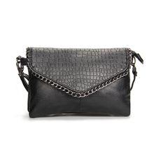 Le plus bas prix! 2017 Nouvelles femmes de mode d'été petit sac de messager Doux PU en cuir Noir sac à bandoulière pour les femmes d'embrayage de soirée sac