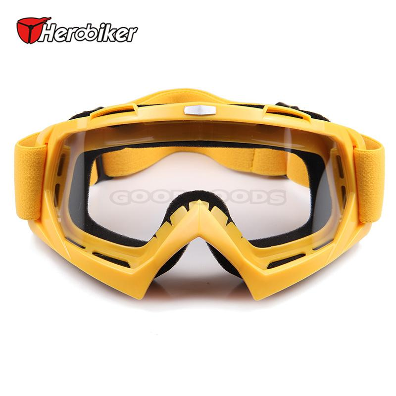 HEROBIKER Motorcycle Racing Windproof Glasses Color Film Bicycle Downhill  Speed Glasses Ski Glasses Motocross Off-Road  Glasses