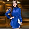 Плюс Размер 5xl Женщины Блузка 2017 Новый Летний Стиль Моды Blusa Повседневная Платье С Длинным Топы Brand Clothing рубашки женщин блузки blusas