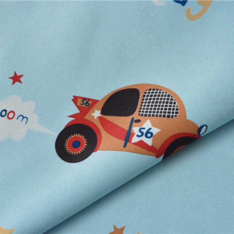 Прозрачные тюлевые затемненные занавески для мальчиков с рисунком автомобиля, синие занавески для гостиной, затемненные занавески для детей, для мальчиков, для спальни, AG020 & 20
