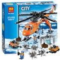 273 unids ciudad ártico helicrane helicóptero 10439 nuevos bloques de construcción figuras modelo juguetes de los niños ladrillos compatible con lego