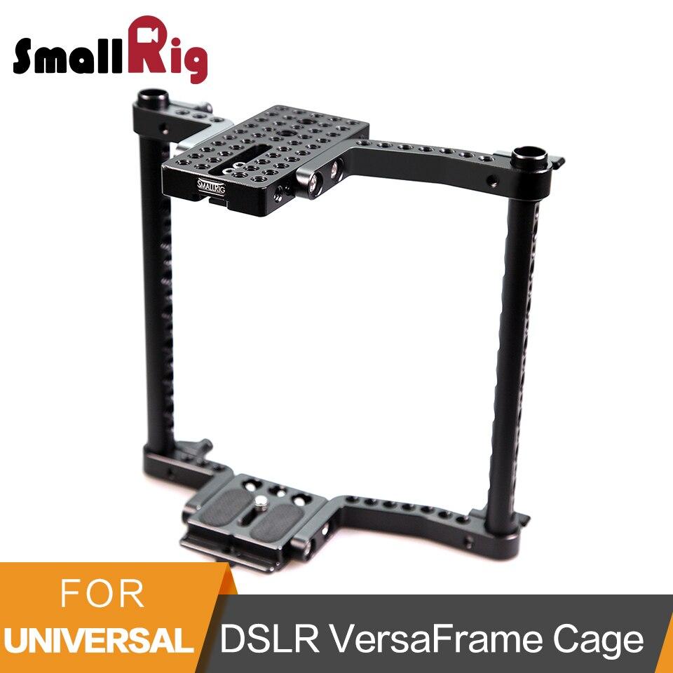 SmallRig Macchina Fotografica Universale VersaFrame Gabbia Per Canon/Nikon/Sony/Panasonic GH3/GH4/Fujifilm Fotocamere REFLEX Digitali con Battery Grip-1750