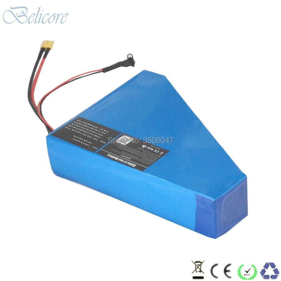 Cheap free shipping 48v 1500w electric bike li-ion battery 48v 30ah triangle ebike battery 48v 31.5ah with 4A charger 2