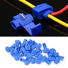 25Pcs Electrical Wire Cable Crimp Terminals Solderless Quick Splice Lock 0.75-2.5mm2/AWG 14 to 18 Wire Connector Blue 20pcs wire terminals quick wiring connector cable clamp awg 22 18