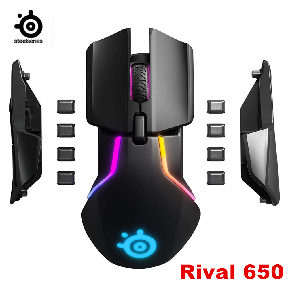 Brand New SteelSeries Rival 650 Senza Fili di Gioco-Mouse-dualen optischen Sensore-einstellbarer Lift-off-Distanz -abstimmbaren