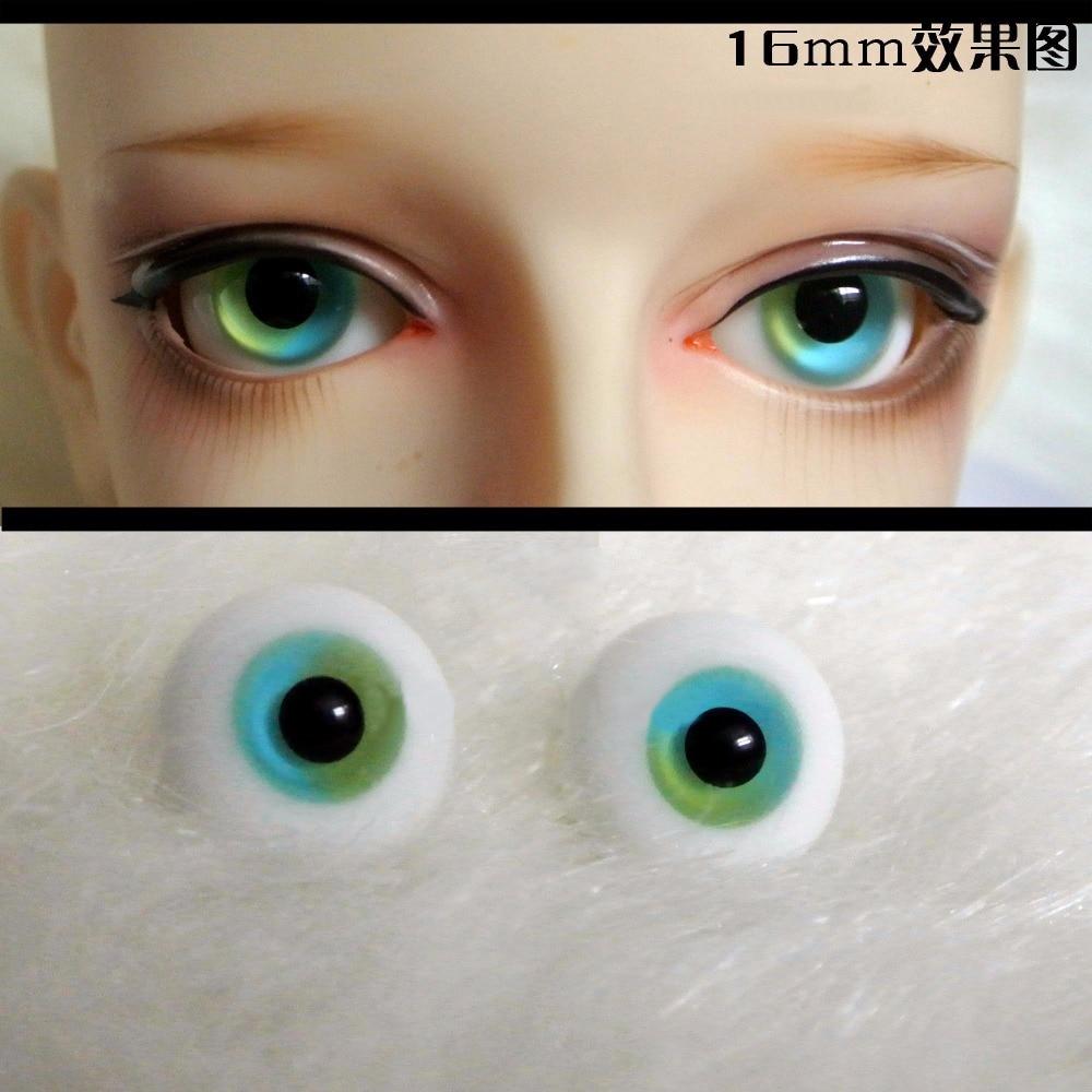 Nice 16mm Light Green withTexture Glass BJD Eyes for DOD AOD Volks Reborn Doll