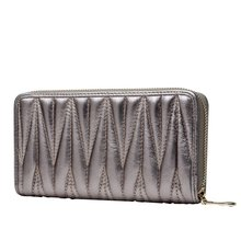 England Style 2017 Hot Sale Genuine Leather Purse Sheepskin Pleats Female Clutch Handbags Day Clutch Women's Fashion Wallet