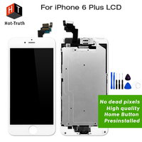 E Trust 10PCS LOT For IPhone 6Plus Lcd Display Touch Screen Digitizer Assembly Home Button Front