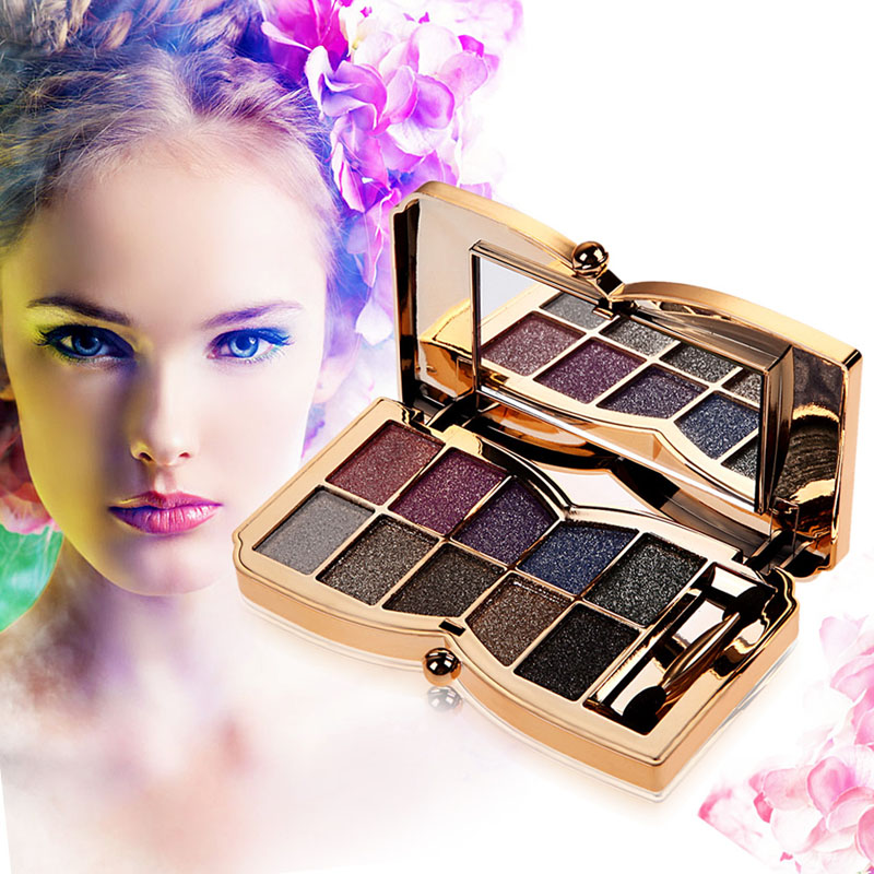 Professional Eye Makeup Set Diamond Eyeshadow Palette Matte 10 Colors Nude Eye Shadows Matte Cosmetic Brush Makeup Set cosmetic 4 colours diamond eyeshadow palette with mirror and brush