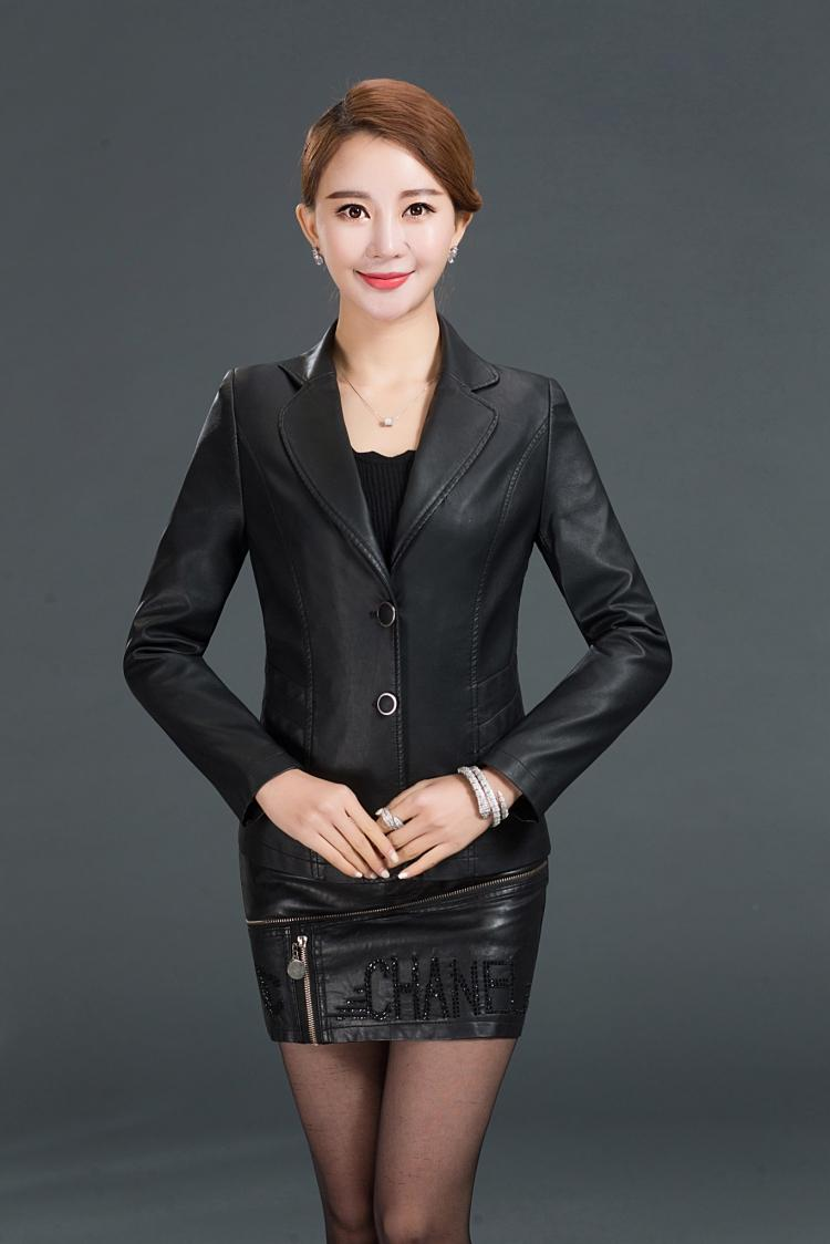 Female Leisure Leather 2017 Spring New Han Edition Cultivate Ones Morality In The Spring And Autumn Womens Leather Jackets