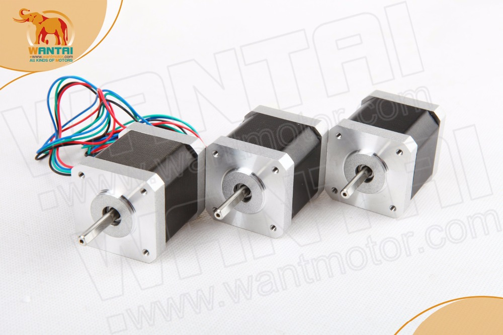 High Holding Torque! Wantai 3PCS CNC Nema 17 Stepper Motor 42BYGHW815 55N.cm 78oz-in 48mm 1.5A  Reprep DIY CNC  Bipolar  4leads чехол для iphone pink hood