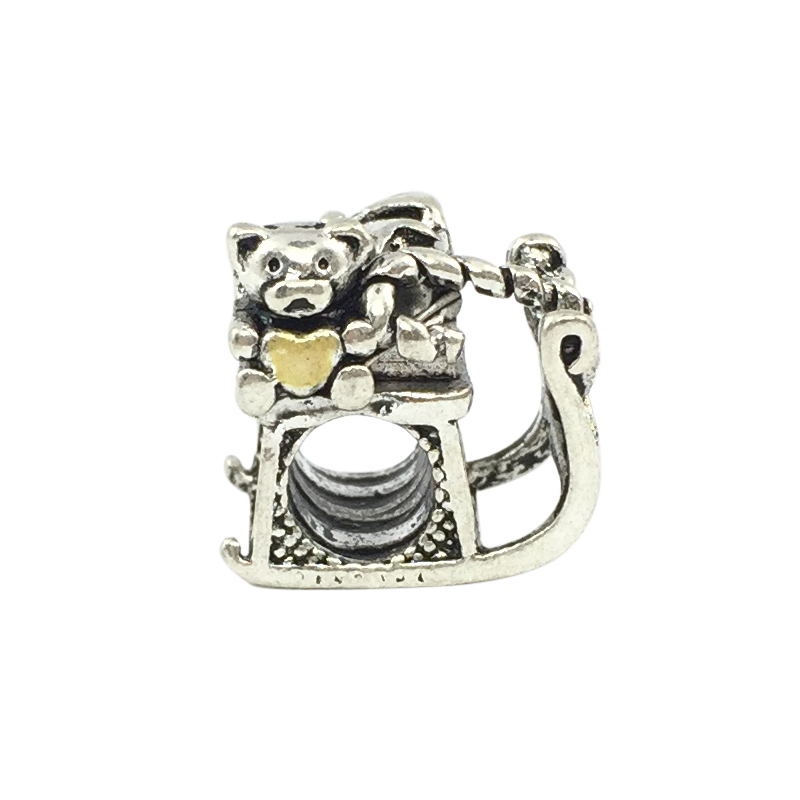 f0f5eb9fb Santa's Sleigh Charm Bear European Beads Fit Pandora Charms  Bracelets&Bangles Necklace B00319-in Beads from Jewelry & Accessories on  Aliexpress.com ...