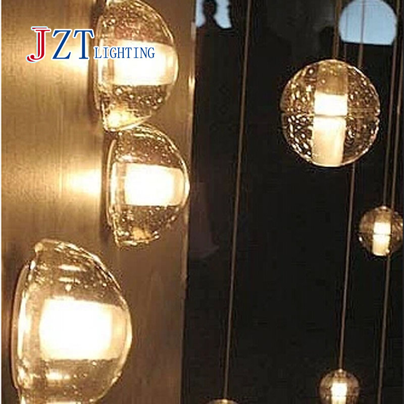 Z Contracted contemporary meteor shower transparent posey magic crystal ball LED decorative wall lamp warm light white light