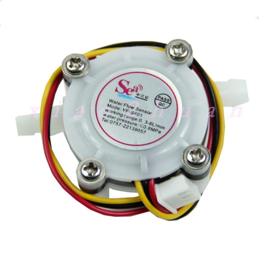 1pc Water Coffee Flow Sensor Switch Meter Flowmeter Counter 0.3-6L/min New