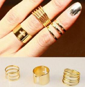 Fashion 3 Pieces In One order Cross Rings Gold Finger For Women Jewelry B1 ABC