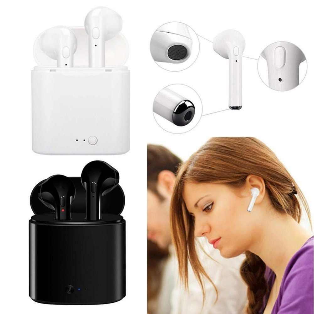 TWS słuchawki Bluetooth i7s Mini True bezprzewodowe douszne zestaw słuchawkowy bezprzewodowe słuchawki słuchawka do iPhone'a z systemem Android z ładowania B