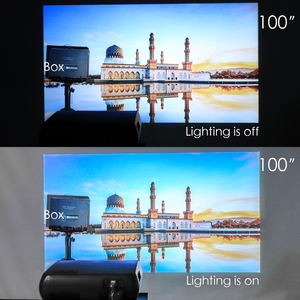 Image 5 - Poner Saund M2 LED 4K 2K 1080P FULL HD projector 6500 Lumens 3D Home Theatre Android 6.0 Bluetooth 5G WIFI HDMI USB AV Vs led 86