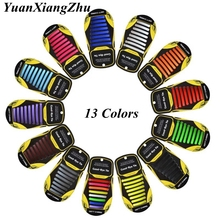 16Pc/Set 13Colors Unisex Adult Athletic Running No Tie Shoelaces Elastic Silicone All Sneakers Fit Strap Shoe Lace L12