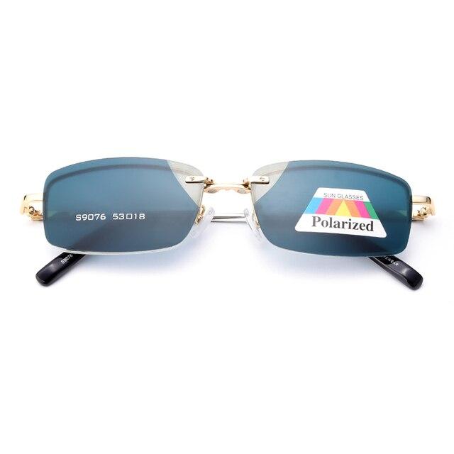 Gmei Оптический S9076 Магнитный Поляризованный Клип На Очки Рамка Сплава Полный Обод Прямоугольные Очки Кадр