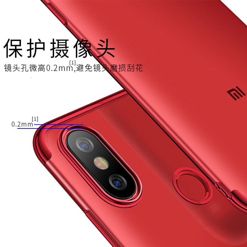 Xiaomi Mi 6X Case Cover Luxury Plain Soft Silicone Silm Plating TPU Back Cover For Xiaomi MiA2 Xiaomi6X Cases Full Phone Coque in Fitted Cases from Cellphones Telecommunications