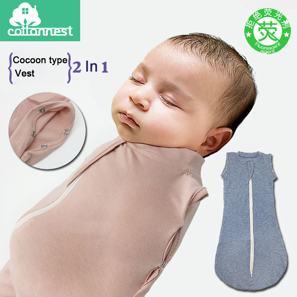 Cotton Baby Sleeping Bag Us 28 35 68cm Cotton Baby Sleeping Bag Envelope For Newborns Swaddle Soft Fabric Blanket Newborns Cocoon Wrap Sleepsack Baby Bedding In Sleepsacks