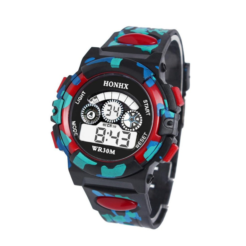 Children Watches Kid Boy LED Digital Quartz Alarm Date Acrylic Sports Wrist Watch Gift