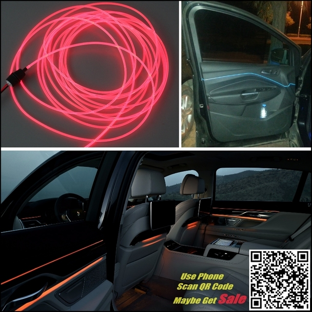 For CHRYSLER Pacifica 200 Car Interior Ambient Light Panel illumination For Car Inside Tuning Cool Strip Light Optic Fiber Band 3