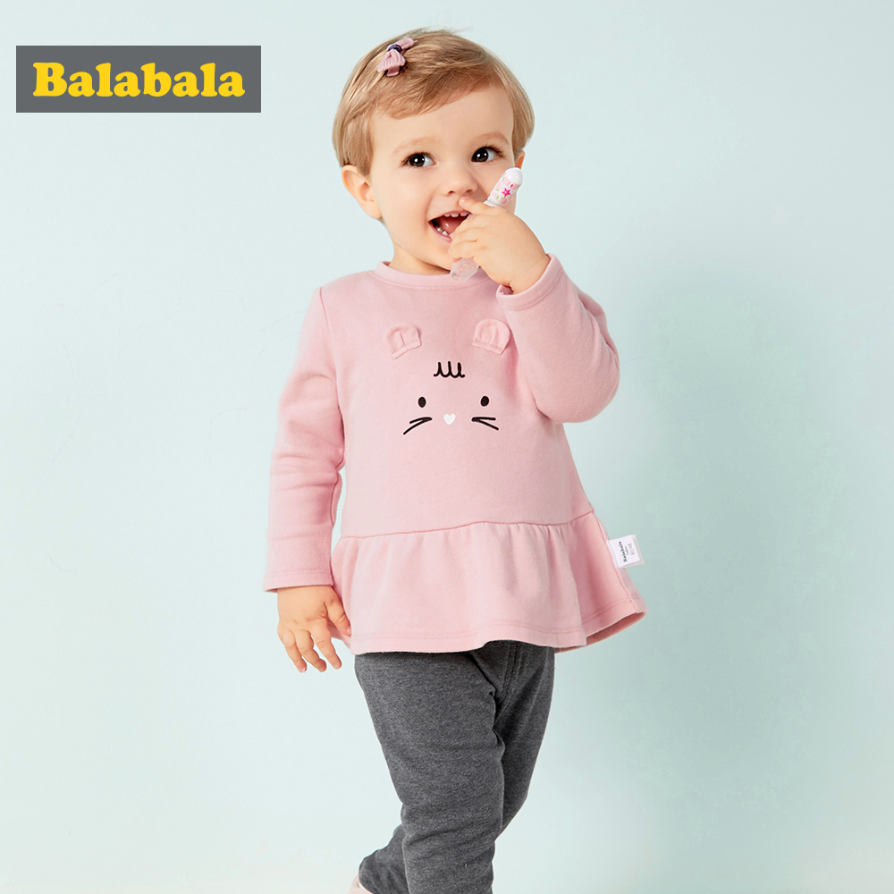 Balabala 2Pcs/Set New Adorable Autumn Newborn Baby Girls Boys Infant Warm Clothes Outfit0-2 Years Clothing Set For Bebes
