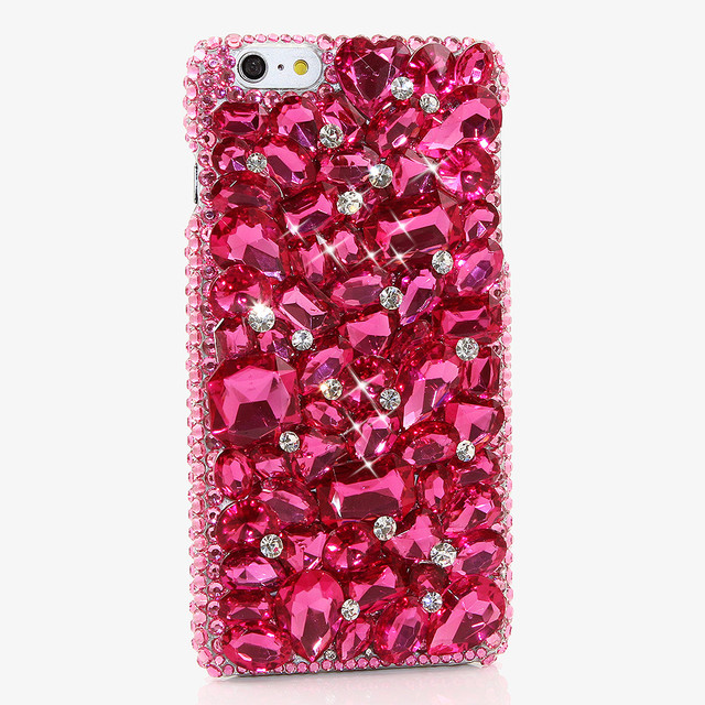 Lady Women Girl Bling Colorful DIY Pearl Full Crystal Color Diamond Bling  Rhinestones Cases For iPhone X 8 7 6 6s Plus 5s 5 99feff59f