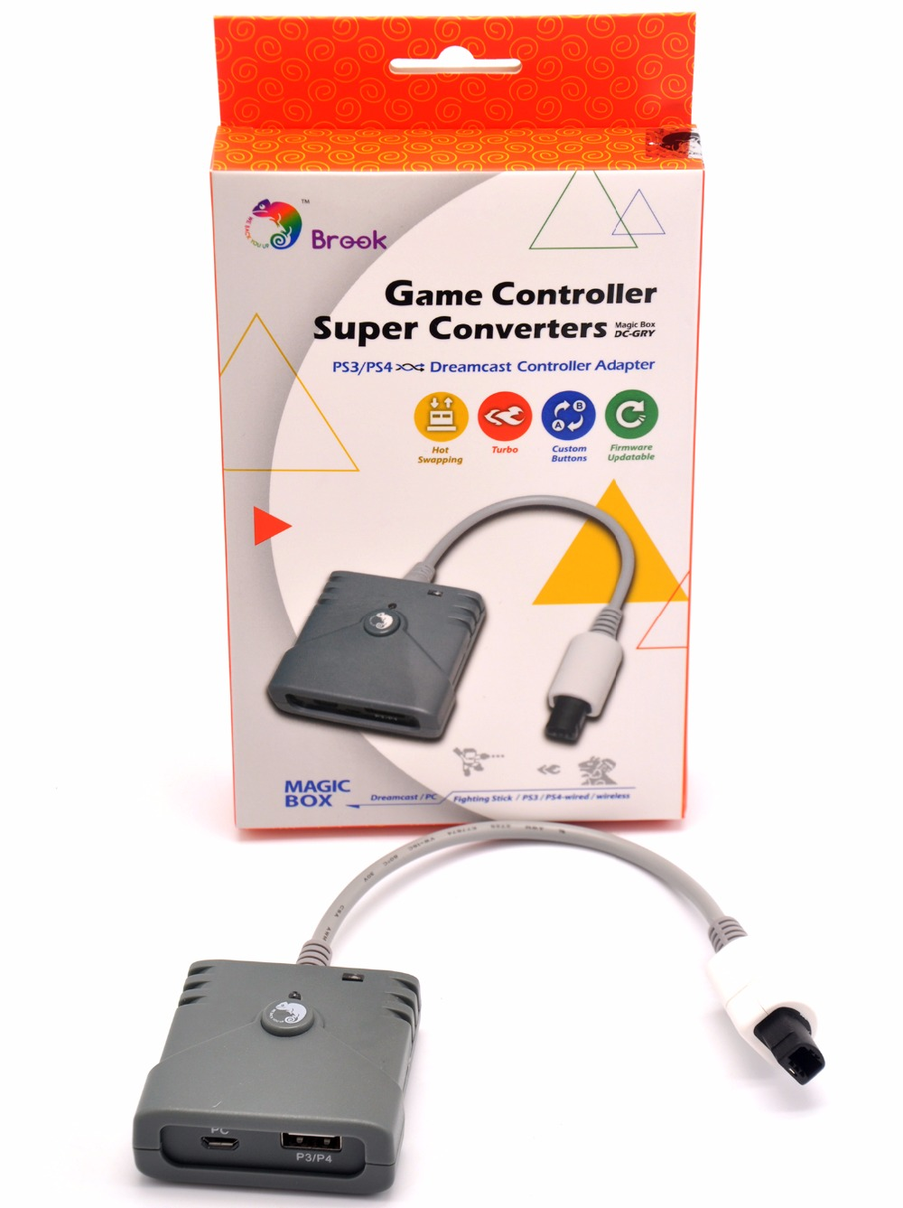 Brook Super Converter for PS3 PS4 to Dreamcast Controller Adapter use Arcade Stick or Wireless PS3