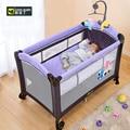 Coolbaby 970 Multifunctionele vouwen wieg kind bed Continental draagbare kinderbox met muskietennetten baby shaker