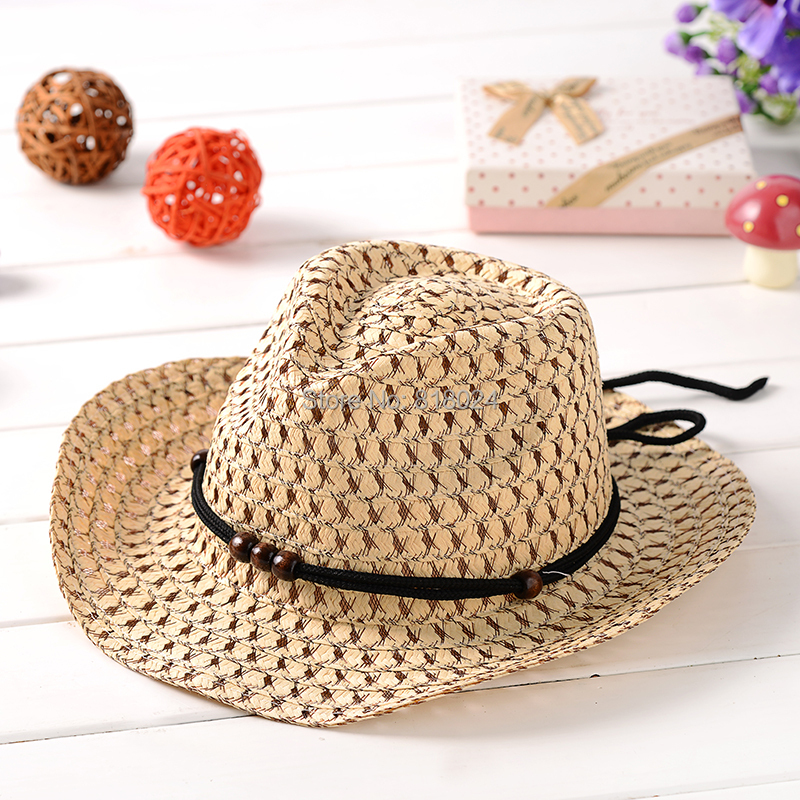 (7 Colors for Choose )2016 Fashion Kids Fedora Hat Children Summer Hat Panama Hat Jazz Cap Summer straw cap Dicers Fedoras