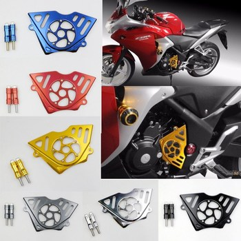 CNC Aluminum Front Sprocket Chain Guard Cover Left Side Engine For Honda CBR 250 250R 2011-2014 CBR250 2010-2013 CBR250R 2012 Honda CBR250R