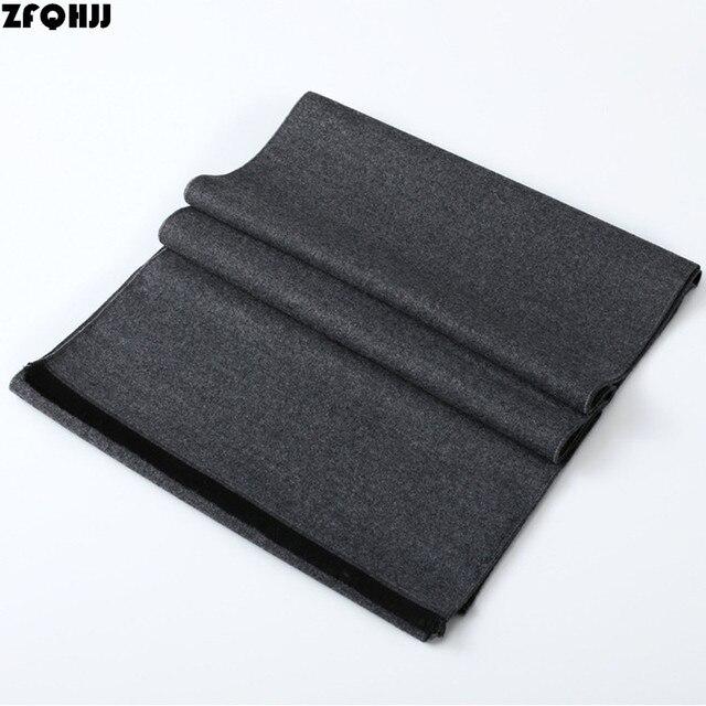 ZFQHJJ 180x30 cm bufanda de hombre de moda sólida Formal chal de negocios envoltura gruesa cálida bufanda de Cachemira silenciador pañuelo para hombre regalo