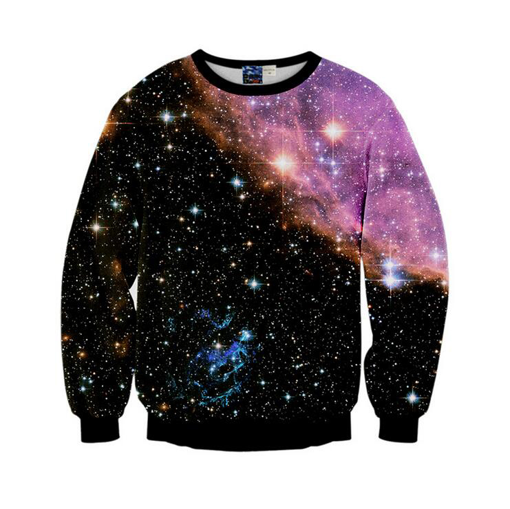 Mr.1991INC New Arrivals Men Wome Hoodies Starry Sky Pattern Printed O-Neck 96% Polyester 4% Spandex S to XL 3D Sweatshirts