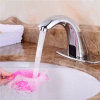 New Automatic Electronic Hands Free Mixer Sensor Tap Faucet Cold Water Touchless 4 Bathroom Basin Infrared