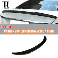 FD Style Carbon Fiber Rear Wing for Mercedes Benz W205 C180 C200 C250 C300 C350 & W205 C63 AMG Sedan 4 Door ( not fit 2 Door)