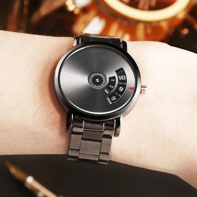 Black Stainless Steel Quatrz Watches Men 5