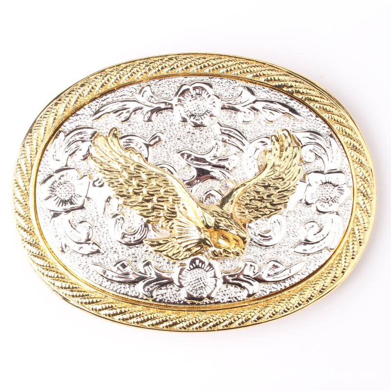 Golden Eagle Belt Buckle Double Color Alloy Smooth Buckle