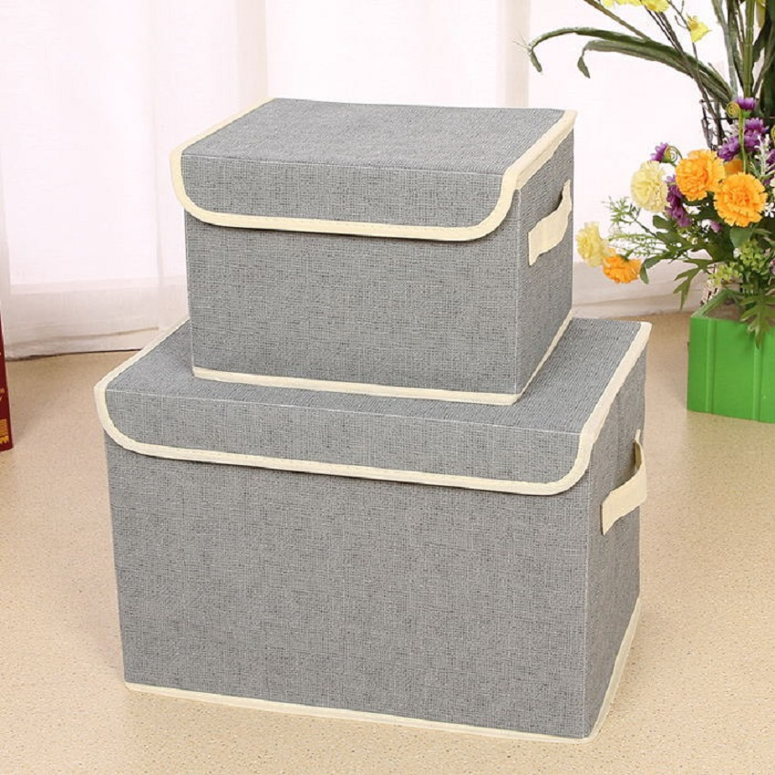 Fashion Non-Woven Fabric Fabric Folding Socks Underwear Ties Bra Cosmetics Jewelry Book And Toys Storage Box Closet Organizer
