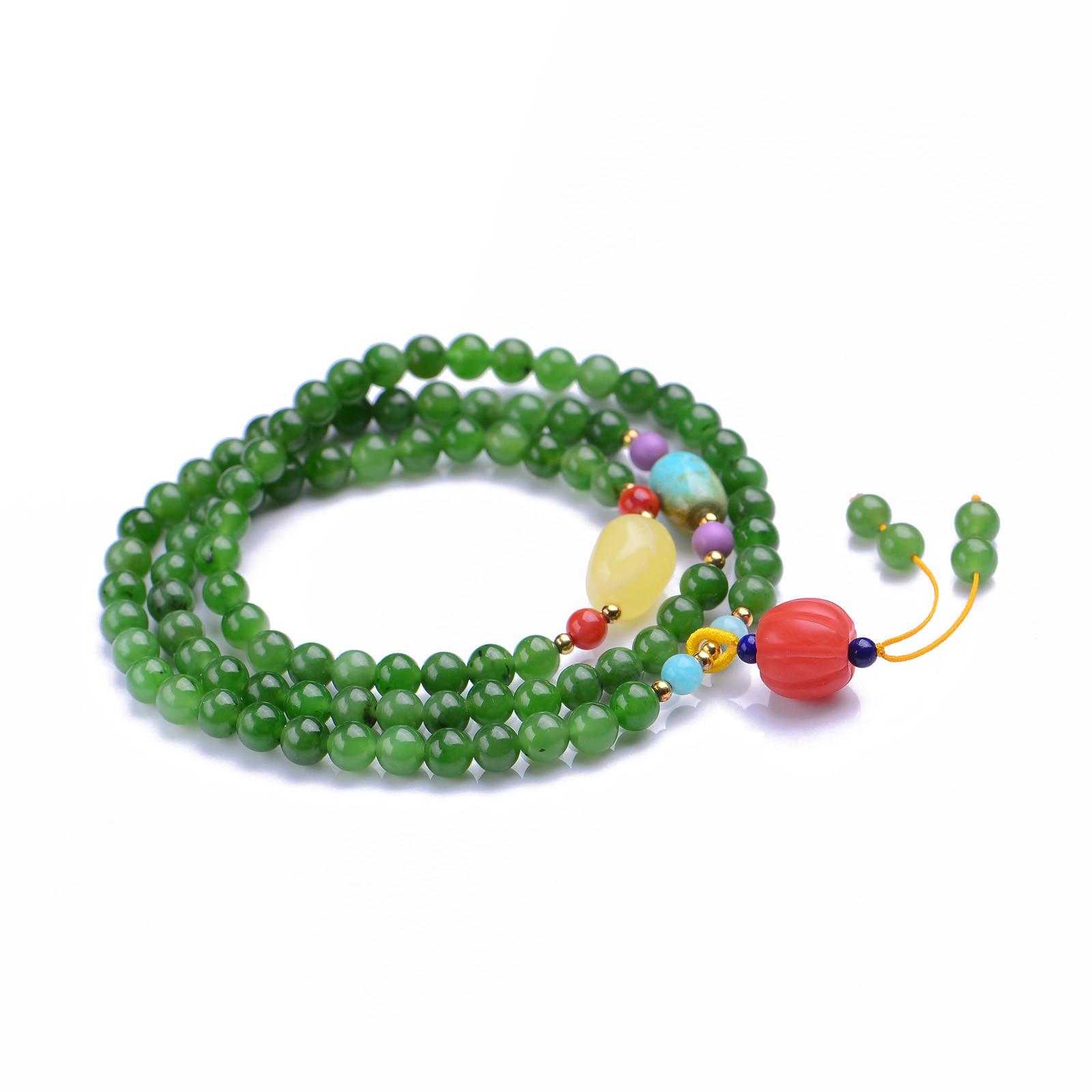 Handmade Authentic Green Crystal Bracelets 5.8mm