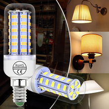 E14 Led Bulb E27 Led Lamp Corn Light Bulb SMD5730 220V Lampada 24 36 48 56 69 72leds Chandelier Candle Lamp For Home Decoration недорого